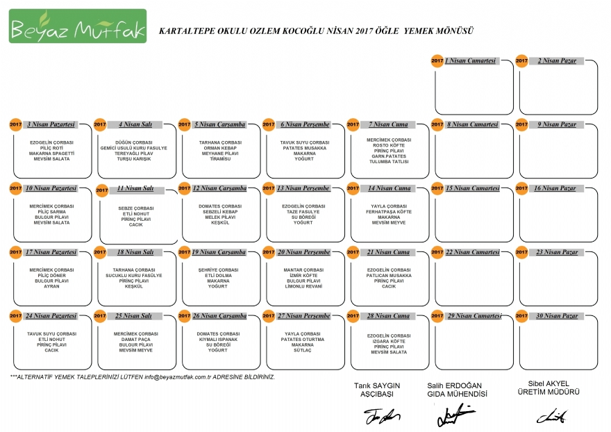 KARTALTEPE İLKOKULU - Beyaz Mutfak Catering, İkitelli tabldot catering yemek firmalari, Toplu Yemek Hizmetleri